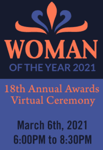 Woman of the year award ticket post