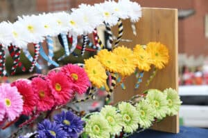 Homemade sunflowers display at Easton Lions Club Holiday Fesitval Craft Fair